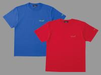 Tシャツ(筆記体ロゴ)【ブルー×グリーン、レッド×オレンジ】