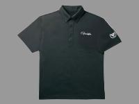 ポロシャツ(半袖)・L【ブラック】
