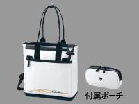 タックルトートバッグ【ホワイト×ゴールド】